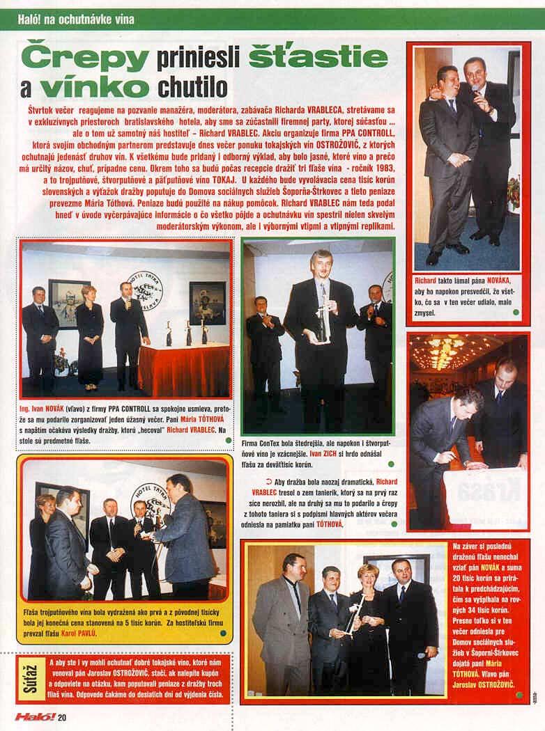 International ExPRESS 25.januára 4/2002: Črepy priniesli štastie a vínko chutilo