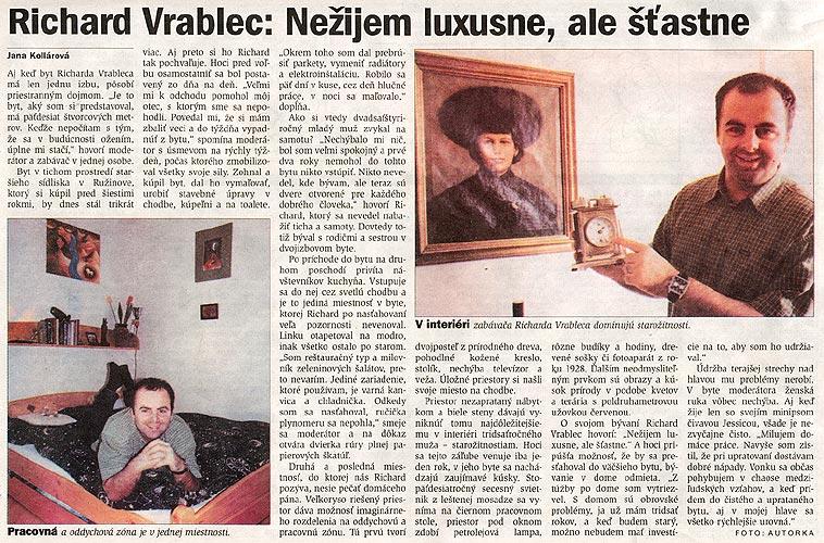 Kormorán, 12/2002: Nežijem  luxusne, ale šťastne