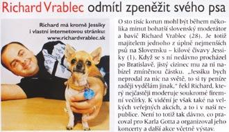 Časopis Katka, číslo 10/2002: Richard Vrablec odmítl zpenežit svého psa