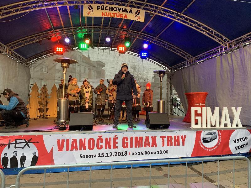 Vianočne Gimax trhy. 15.december 2018 Puchov